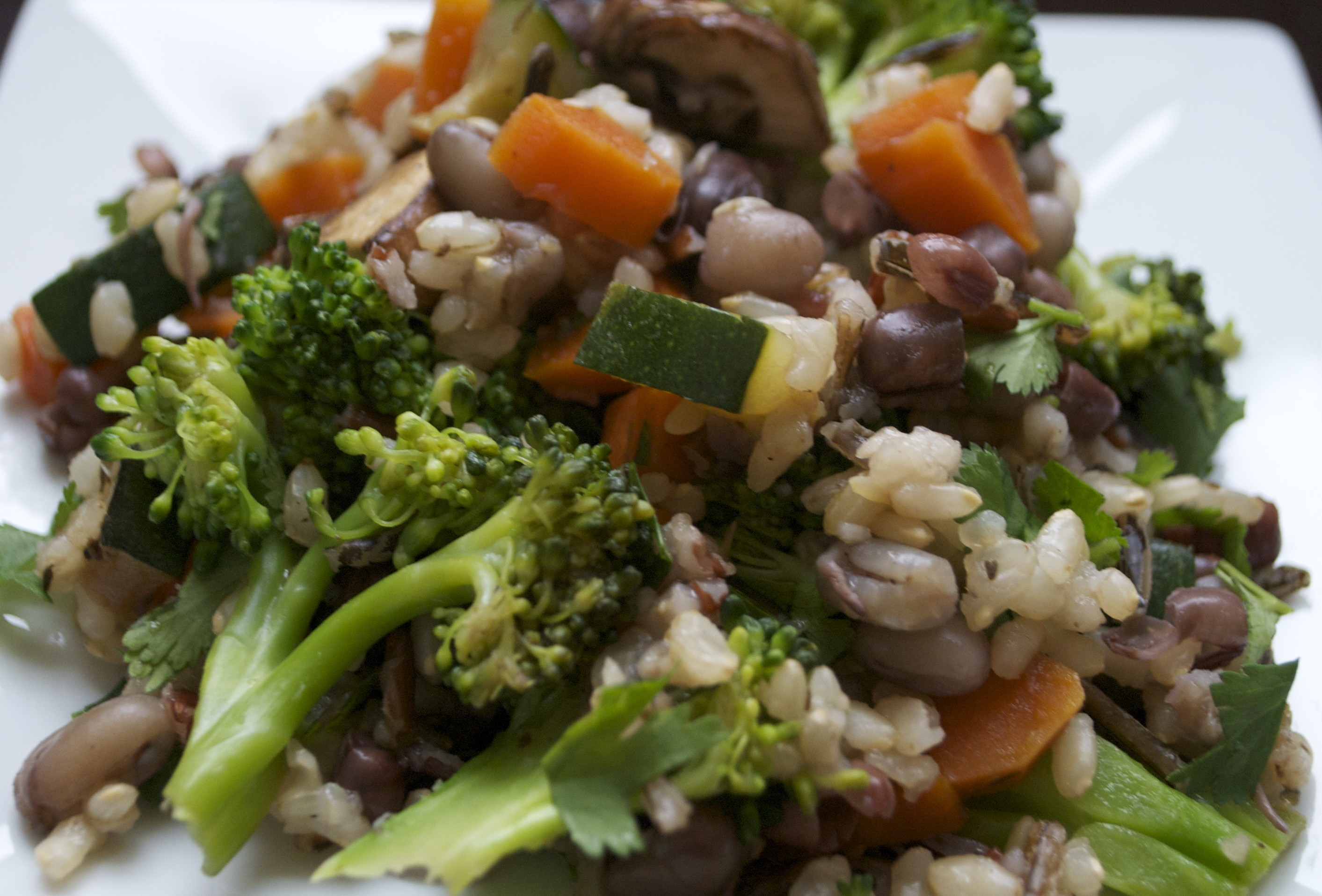 Sprouted Adzuki Bean and Rice Salad | Paddock Post