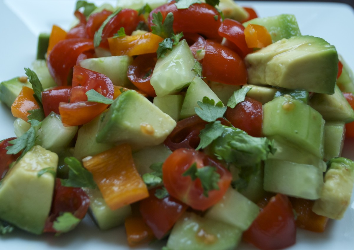 Cucumber, Tomato and Avocado Salad | Paddock Post