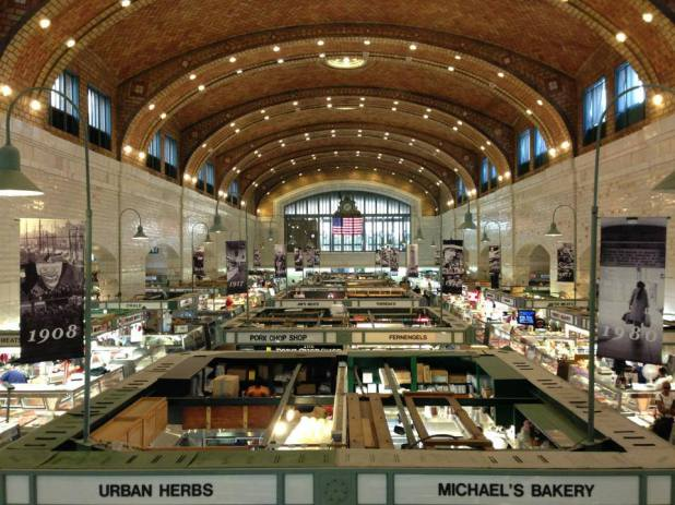 Interior West Side Market in Cleveland