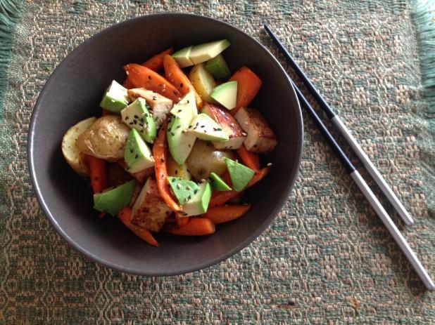 Tofu, Potato and Carrot Bowl
