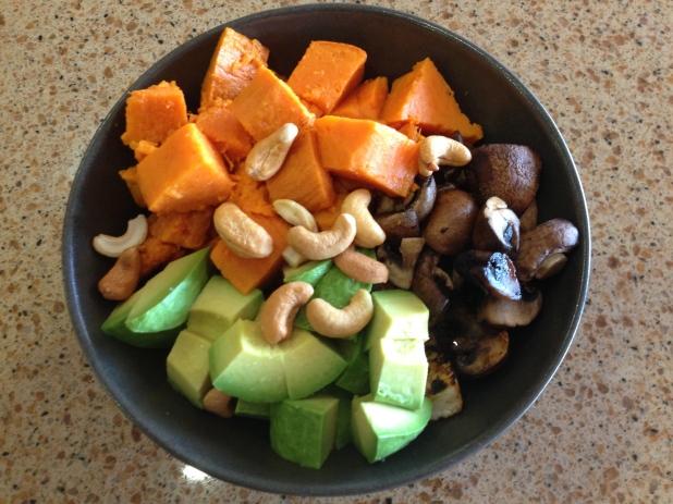 Tofu_Sweet_Potato_and_Mushroom_Bowl