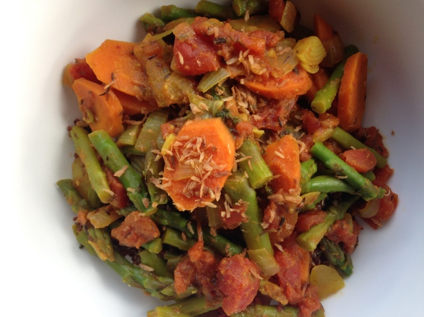 Asparagus_Carrot_Masala_with_Quinoa